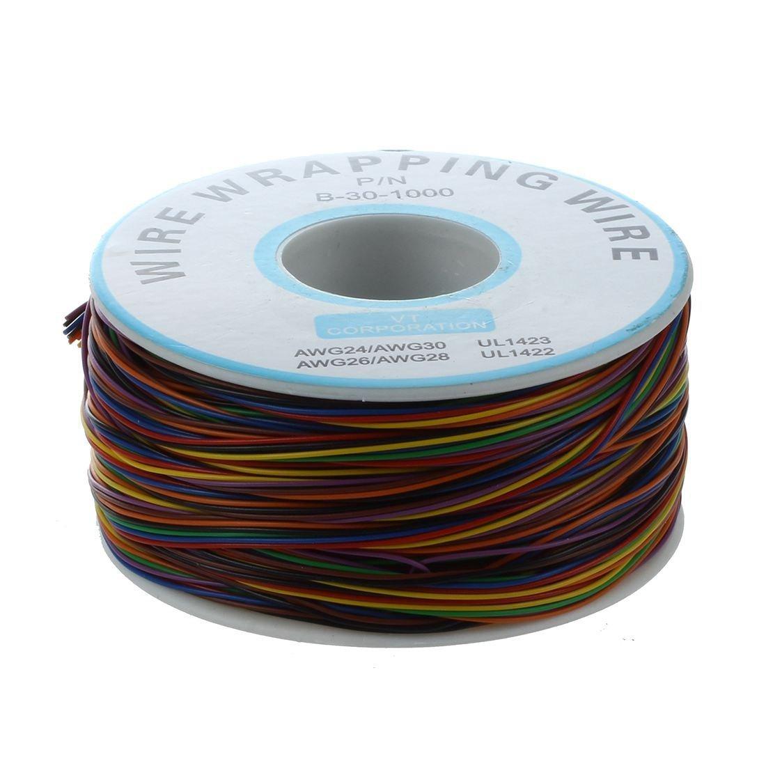 SODIAL(R) P / N B-30-1000 200M 30AWG Cable de embalaje de prueba de aislamiento de 8 hilos: Amazon.es: Electrónica