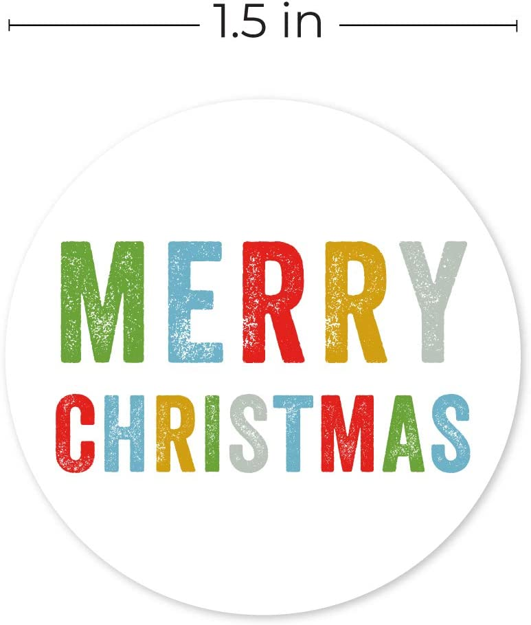 Merry Christmas Stickers//500 Christmas Tags