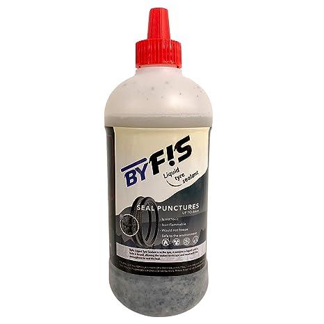 BYFIS Líquido para tubeless de Efecto inmediato. Antipinchazos para Bicicletas MTB y Carretera con aplicador. Sellante para bicis, Motos y patinetes ...