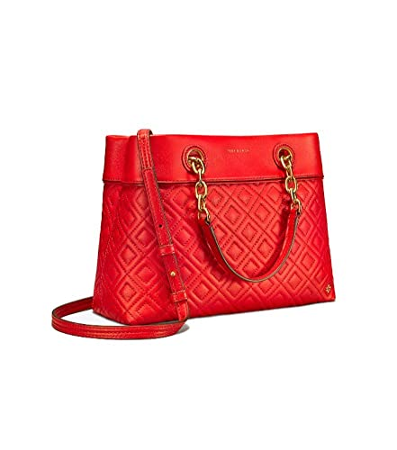 aec0ef4c95b Amazon.com  Tory Burch Fleming Small Quilted Leather Tote (Exotic Red)   Shoes