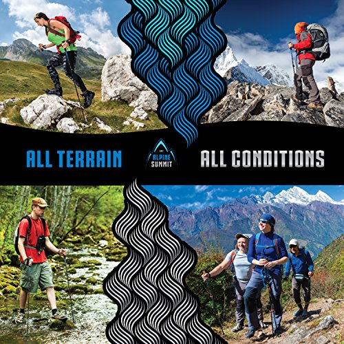 Premium Ultralight Trekking Poles w/ Cork Grips Your collapsible Hiking / Walking Sticks come with Tungsten Tips and Flip Locks Enjoy Pole Trekking In the Great Outdoors