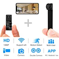 Sungkong Hidden Mini Spy Camera HD1080P Portable Wireless Security Camera with DIY Interchangable Lens/Motion Detection for iPhone/Android Remote View with Motion Detection