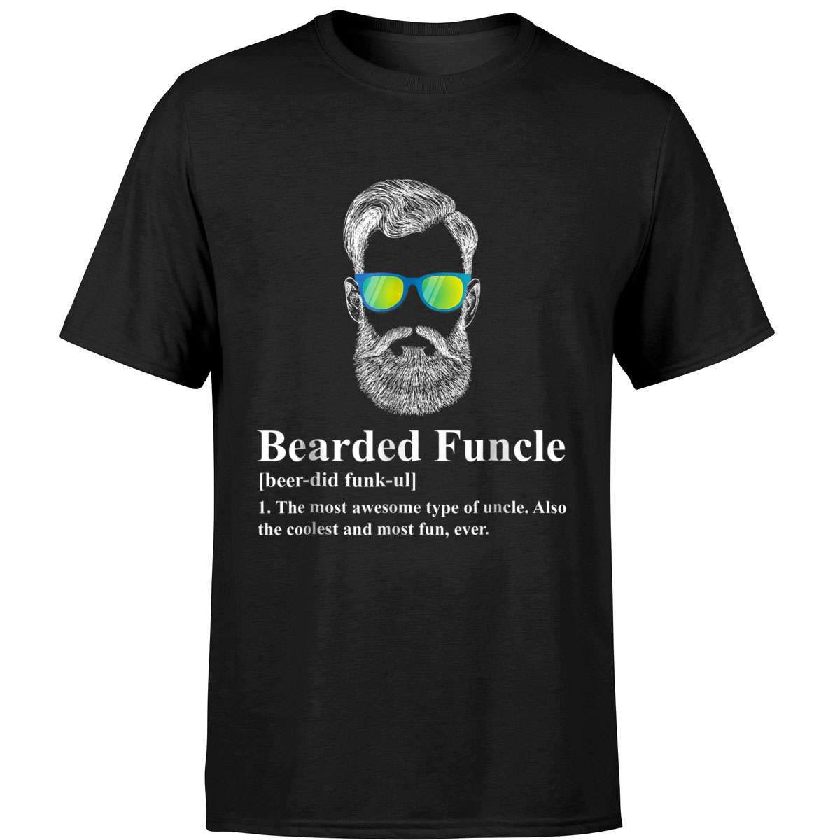 Momlifeliving Funny Bearded Funcle Shirt For