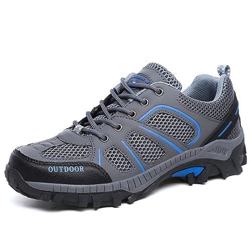 HN Shoes Scarpe da Trekking Uomo Estive Arrampicata Sportive All'aperto Escursionismo Sneakers, gray, 44 EU