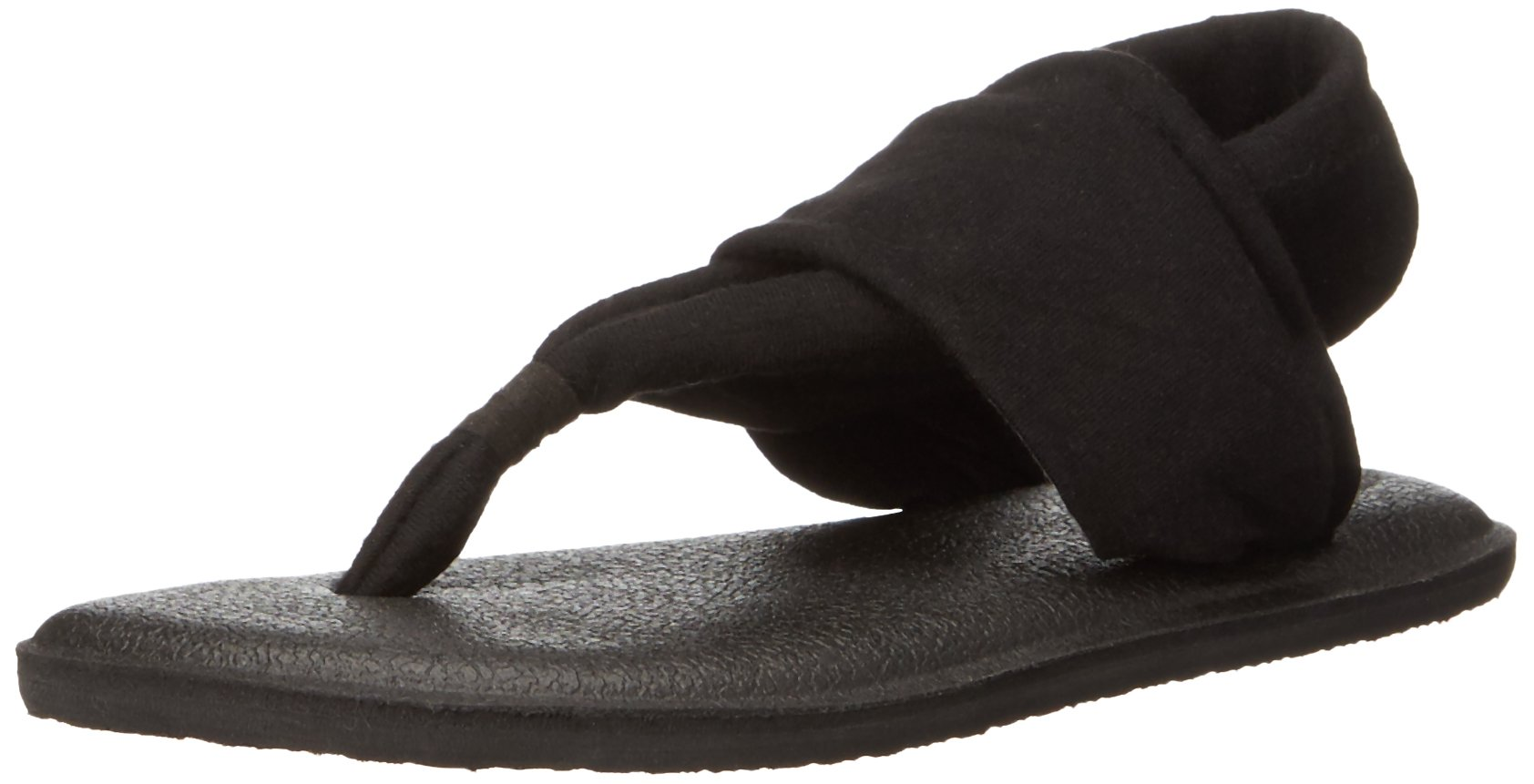 Sanuk Kids Yoga Sling Burst Sandal (Toddler/Little Kid/Big Kid), Black, 7/8 M US Toddler