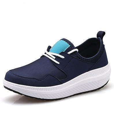 45f06b9a6e134 JITIAN Baskets athlétiques Wedge pour Les Femmes Respirant Bas Haut en  Plein air Chaussures de Course à Pied  Amazon.fr  Chaussures et Sacs