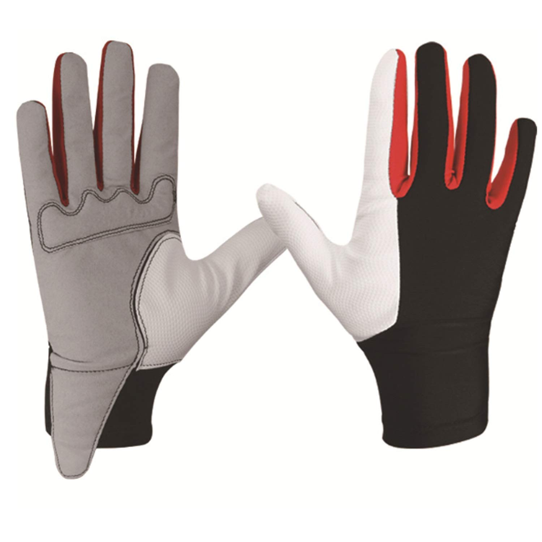 Easy Go Shopping Gants antidérapants Full Finger pour Hommes, vêtements de Sport pour Hommes, vêtements de vélo, Gants d'équitation Respirants, 1 Paire (Color : White, Size : L) vêtements de Sport pour Hommes