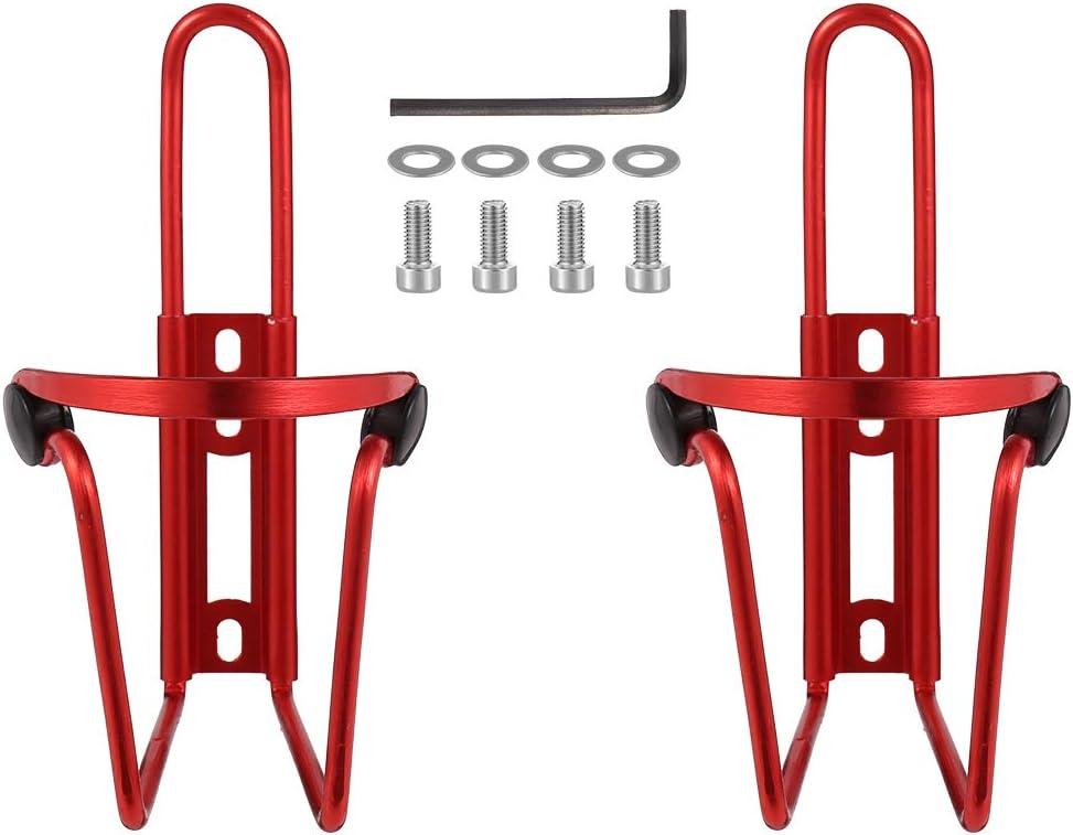 Girls'love talk 2 soportes para botellas de bicicleta, de aluminio, resistentes, para bicicletas, bicicletas de montaña, sombrillas, cochecitos, sillas de ruedas, incluye tornillos y dos