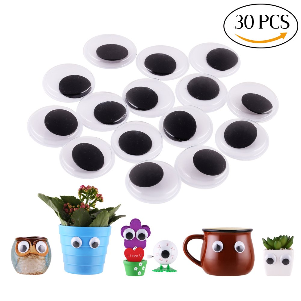 DIYASY 120 Pcs 12mm Googly Wiggle Eyes Self Adhesive Assorted Bulk Stickers for Cratfs