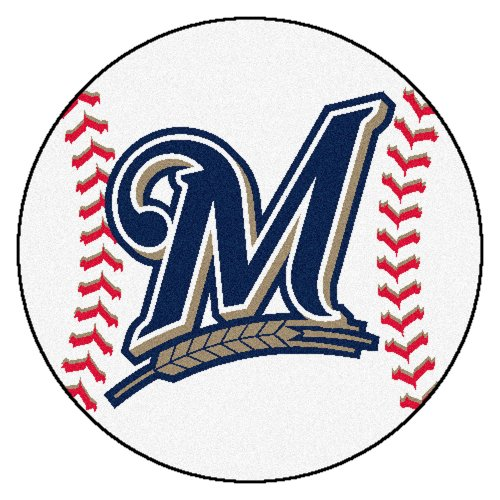 Baseball Milwaukee Brewers Rug (FANMATS MLB Milwaukee Brewers Nylon Face Baseball Rug)