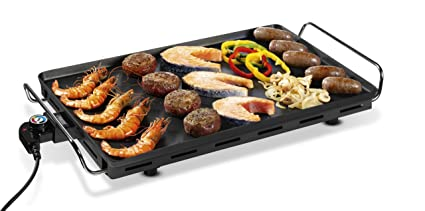 Princess Table Grill Parrilla eléctrica, 2500 W, Plancha, Negro grisáceo