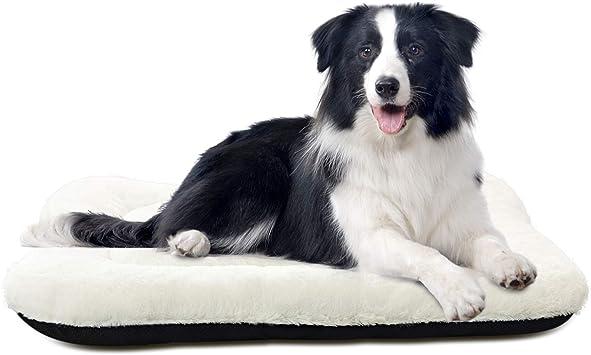 Amazon.com: ANWA - Cojín para cama de perro, suave, lavable ...