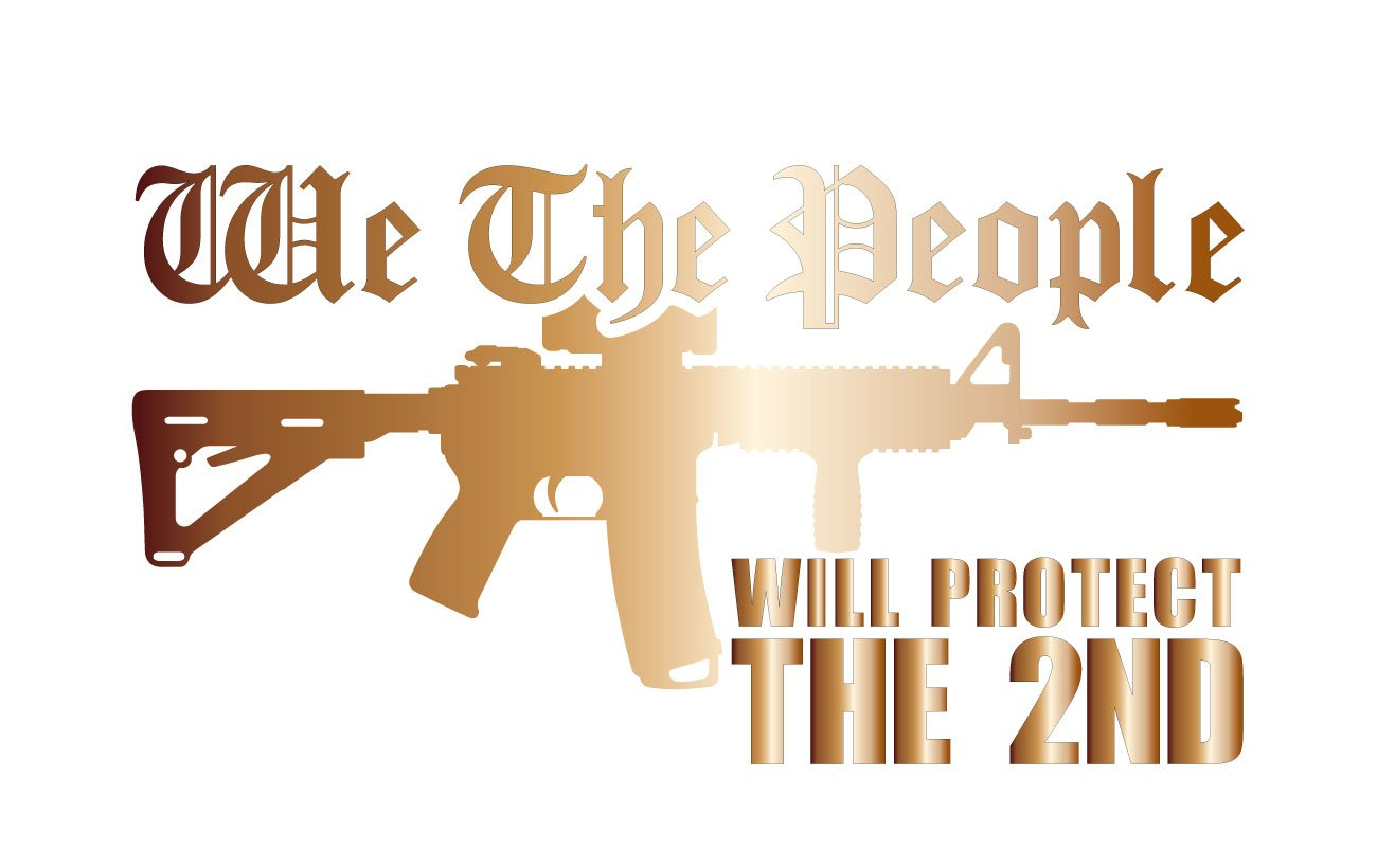 Amazon com bamfdecals we the people ar15 will protect the 2nd amendment vinyl decal sticker medium copper automotive