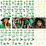 NUOLUX Temporary Tattoos for St. Patrick's Day -- Shamrock, Irish Flag,