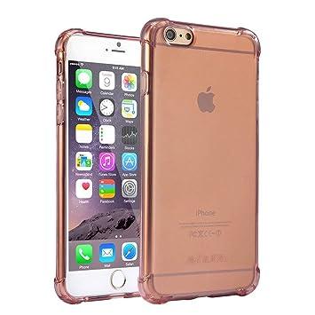 Funda iPhone 6 Plus, Carcasa Protectora de Silicona Transparente, con TPU Antigolpes, para iPhone 6 Plus de 5.5