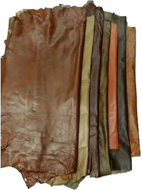 REED Leather HIDES Whole Sheep Skin 7 to 10 SF Navy Various Colors