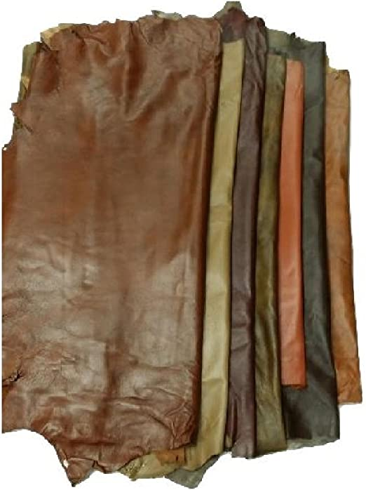 FREE SHIPPING ! Italian leather,Brown leather genuine sheep leather hide Real animal skin hide Brown Leather material for sewing 1.8 mm