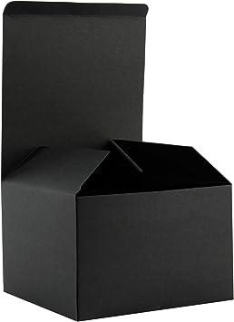 RUSPEPA Cajas De Regalo De Cartón Reciclado: Cajas De Regalo para Regalos con Tapas A Granel - 15.5X15.5X10.5 Cm - Paquete De 20 - Negro: Amazon.es: Hogar