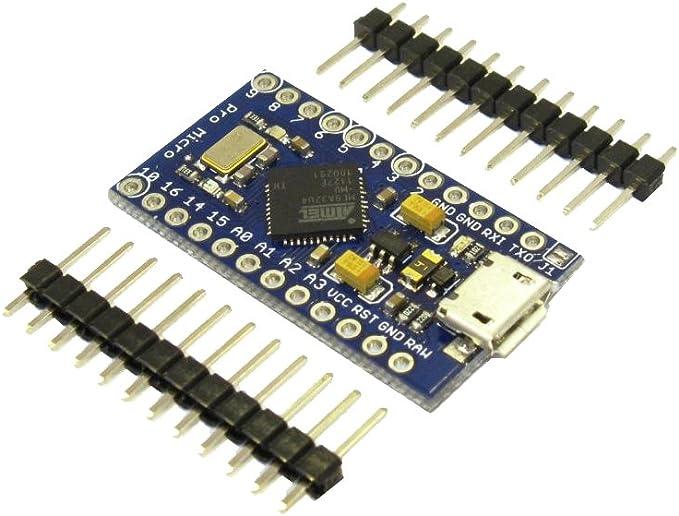 Arduino Pro Micro Mini Atmega32u4 5v 16 Mhz Módulo Placa 32u4 Amazon Es Electrónica