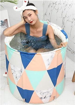 ABBD Bañera portátil de plástico para Adultos con Tubo de desagüe, bañera para niños, bañera de SPA para baño separada para familias, bañera de inmersión Total, Cubo para mampara de Ducha: Amazon.es: