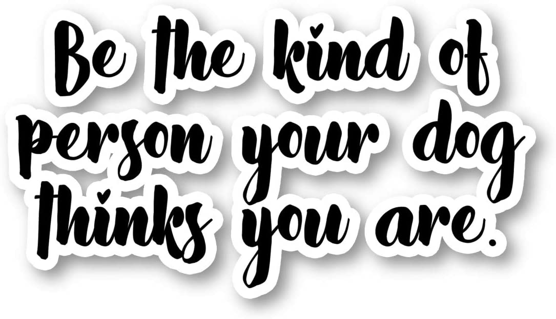 Be The Kind of Person Sticker Inspirational Quotes Stickers - Phone Case Stickers - Laptop Stickers - 2.5