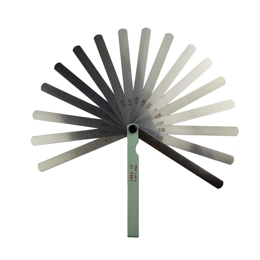 ZXHAO 0.02 to 1mm Metric Master Feeler Gauge 6 Length Blade Tool for Measuring Gap Foshan Nanhai District Guang-FO Hardware City Exhibition Center 2 building