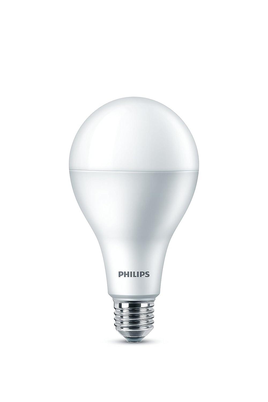 Philips LED Bombilla Luz Cálida esmerilada A80, intensidad no regulable, E27, 22,5 W, color blanco: Amazon.es: Iluminación