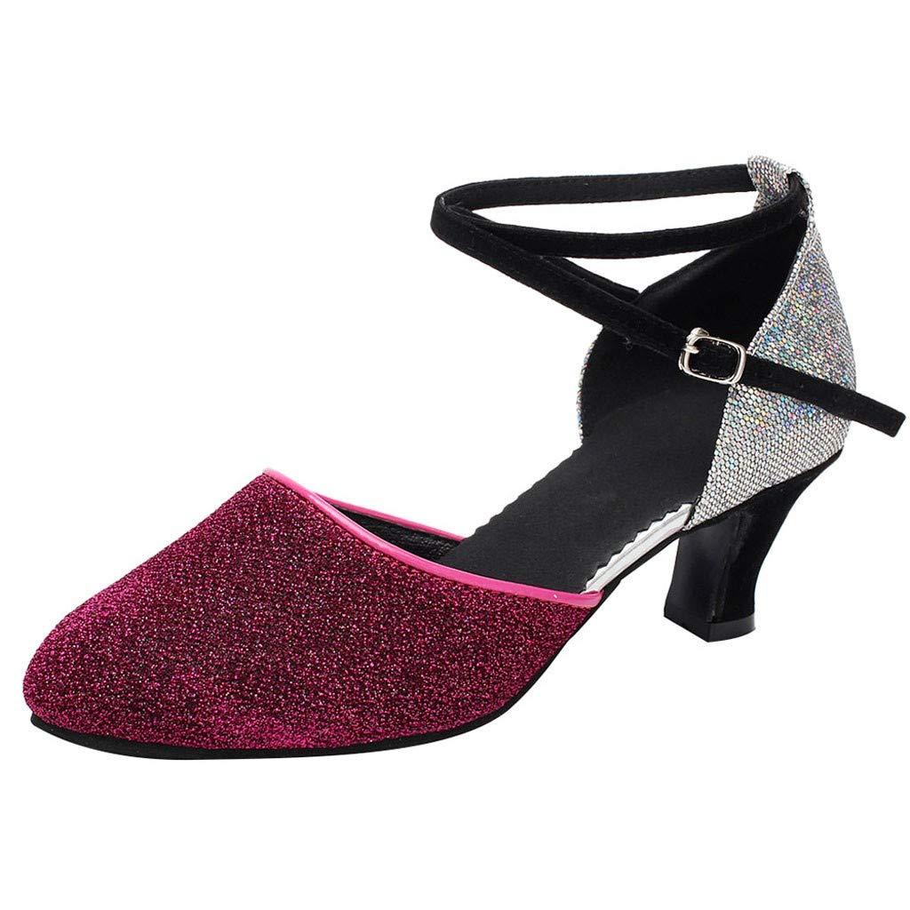 Women's Dance Shoe Ballroom Tango Latin Salsa Dancing Shoes Social Sequins Shoes Chaofanjiancai Fashion 2019 Sandal