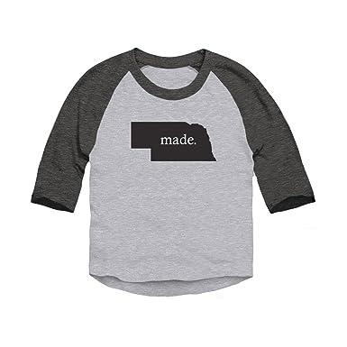 071ee418d Trunk Candy Toddlers Nebraska Made Dual Blend 3/4 Sleeve Baseball Raglan T- Shirt