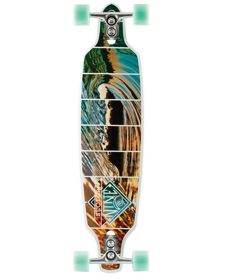 Sector 9 Fractal Complete Skateboard, White by Sector 9
