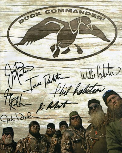 Duck Dynasty cast reprint signed photo of all 7 male cast members Willie Si Jase... Signed Ducks