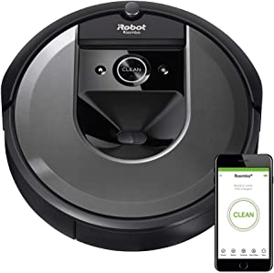 iRobot Roomba i7 Wi-Fi Connected Smart Mapping Robot Vacuum (7150), Works with Alexa, Ideal for Pet Hair, Carpets, Hard Floors, Black