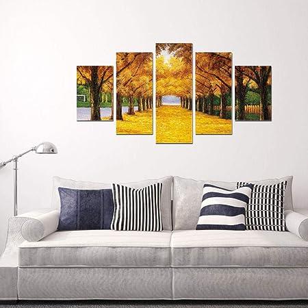 Herbstlaub Leinwandbild Wanddeko Kunstdruck
