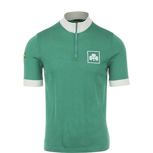 6795ab492 DE MARCHI - HERITAGE JERSEY - 1982 IRELAND Short-Sleeve Men s Green T-Shirt