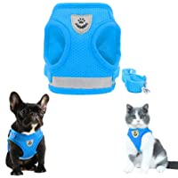 FEimaX Dog Harness and Leash Set, No Pull Reflective Adjustable Pet Vest Harnesses for Puppy Kitten, Soft Mesh Chest…