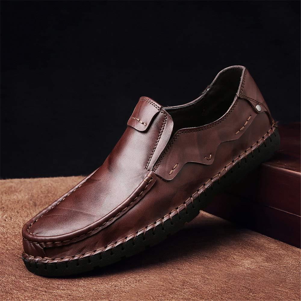 Jincosua Mens Casual Breathable Formale Business handgemachte echte echte echte Leder Loafers (Farbe   Gelb, Größe   EU 43)  d45946