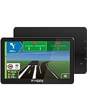"Mappy Maxi X755 Truck Fijo 7"" TFT Pantalla táctil Negro navegador - Navegador GPS (Inglés, Francés, Interno, Europa Oriental, Europa Oriental, 17,8 cm (7""), 800 x 480 Pixeles, TFT)"