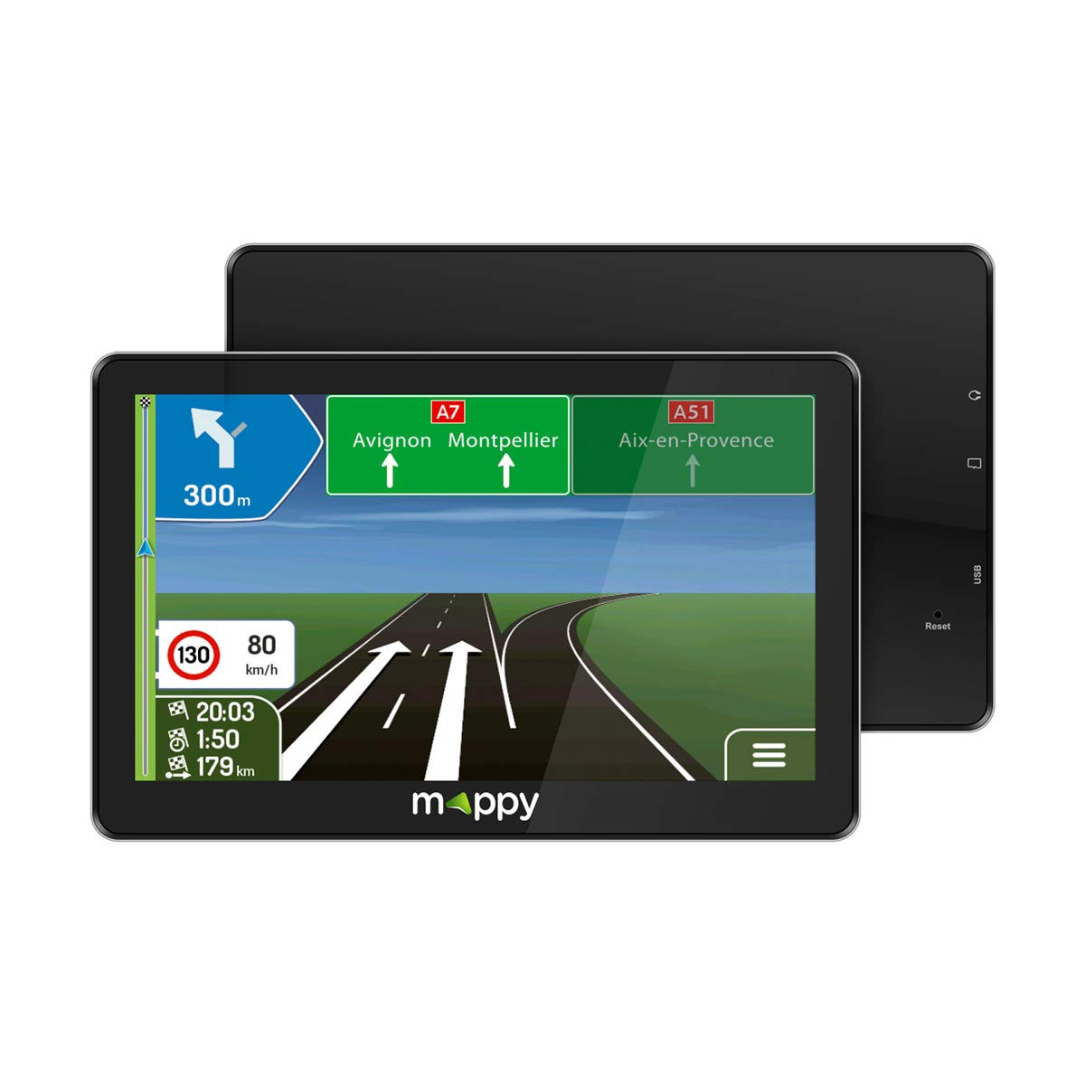 MAPPY Maxi E738 GPS Navigationssystem (Europa, 16: 9: Amazon.de: Navigation