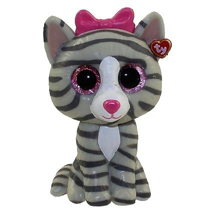 Amazon.com  TY Beanie Boos - Mini Boo Figure - KIKI the Grey Tabby ... 7744da10a92