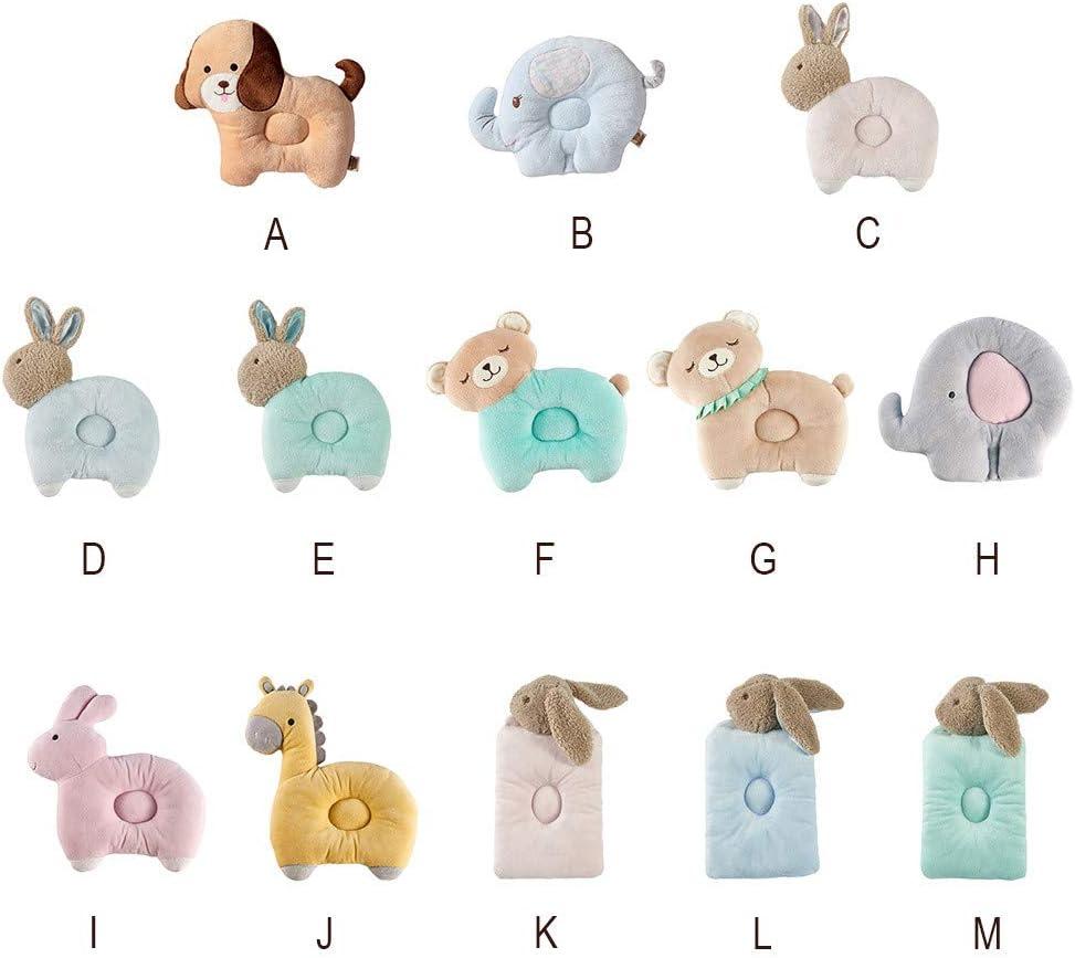Dream Room Neugeborenes Karikatur Atmungsaktives Baby Anti Kopfstereo Verformung Kissen 0-3 Jahre altes Baby Kinder Tier Kissen Pl/üschtiere Spielzeug Gesundheit Kinder Kissen A