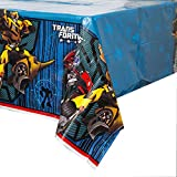 "Transformers Plastic Tablecloth, 84"" x 54"""