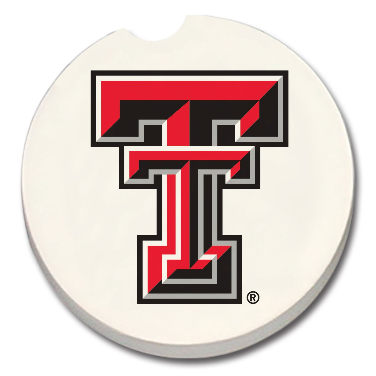 NCAA Texas Tech Red Raiders Absorbent Car Coaster 1 COUNT
