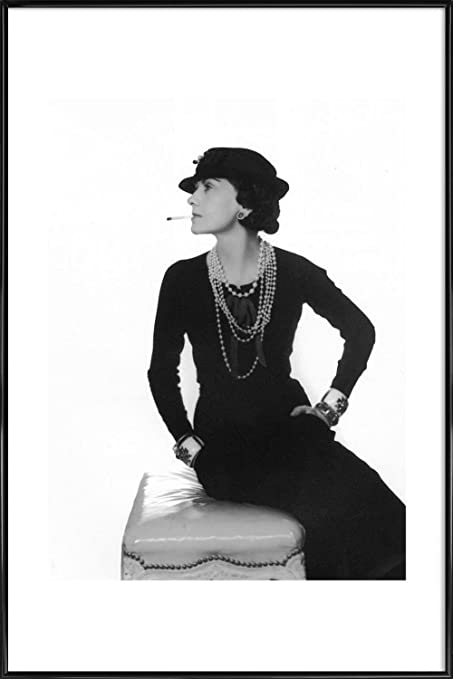 Juniqe picture with frame 20x30cm black white celebrities design coco chanel
