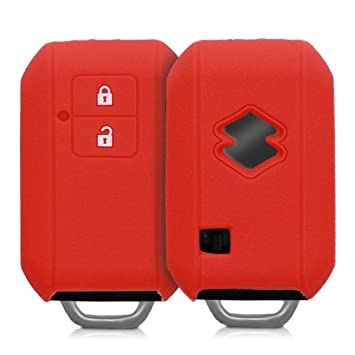 Color Rojo 2 Botones Carcasa de Silicona para Llave de Coche