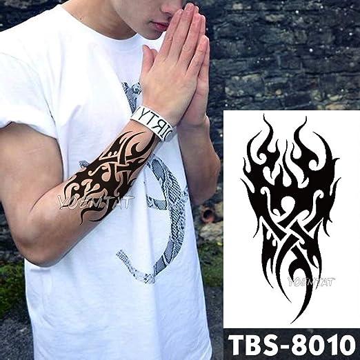 tzxdbh 12x19cm Tatuajes temporales Impermeables Sol Guerrero ...