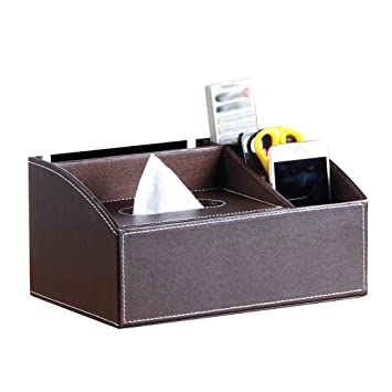Kleenex Box, piel sintética dispensador de pañuelos (Caja pañuelos funda Toalla dispensador Trébol NEX Box, Tissue Box Funda Caja Caja de pañuelos paños Box ...