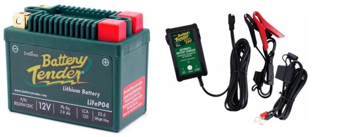 BTL09A120C Lithium 12V 120 CCA + Battery Tender Junior 800 022-0199-DL-WH Combo Deltran