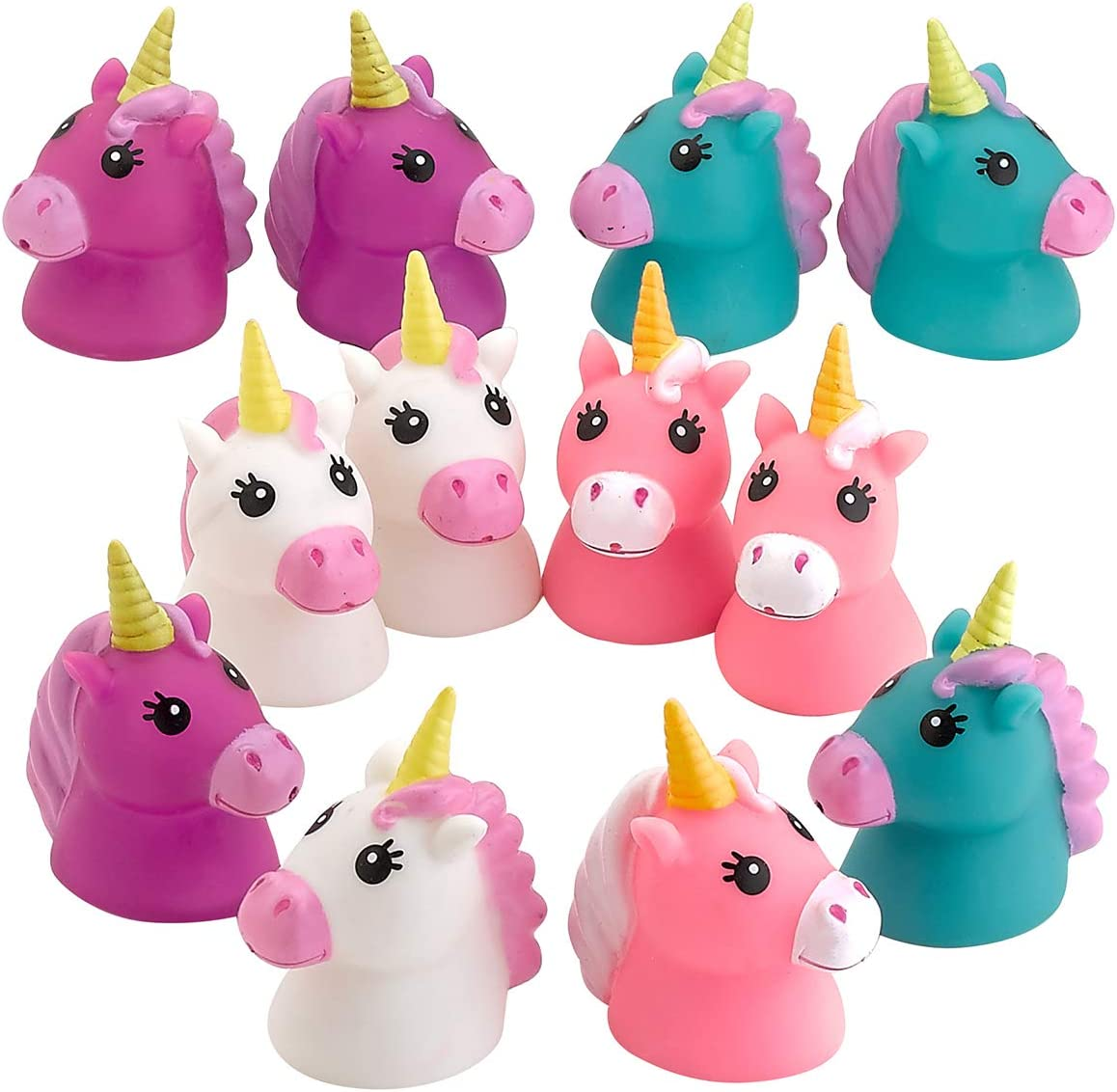 2 x UNICORN BATH SQUIRTER Squirt Pony Toy Kids Baby Shower Water Play Favor Gift