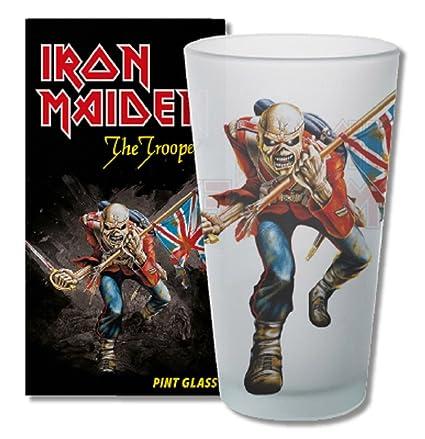 Amazoncom Kkl Iron Maiden Pint Glass The Trooper Bicchieri Boccali