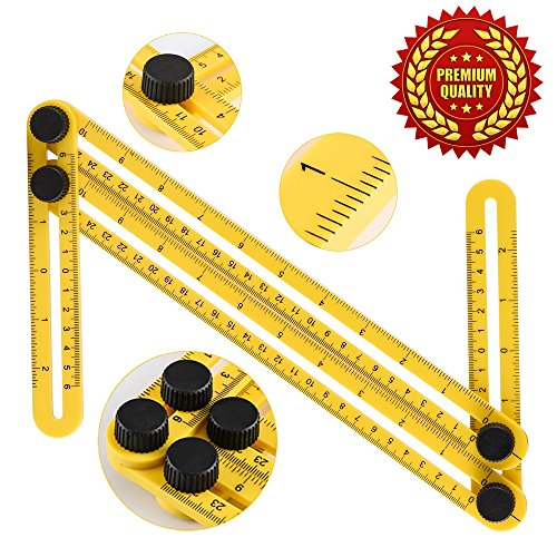 Angleizer Template Tool, Angleizer Angle Template Tool Multi-Angle Ruler Measures All Angles and Forms Angle-izer Angle Template Tool For Builders Craftsmen Tilers Handymen Carpenter Roofers Engineer (Leveling Patio Pavers)